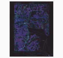 USGS TOPO Map Rhode Island RI East Greenwich 353279 1942 24000 Inverted Kids Tee
