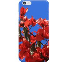 Red Blossoms on a Tree iPhone Case/Skin