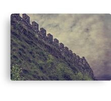 antique ancient walls of castle Canvas Print
