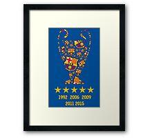 FC Barcelona - Champion League Winners Framed Print