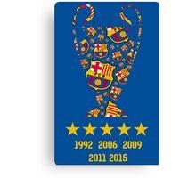 FC Barcelona - Champion League Winners Canvas Print