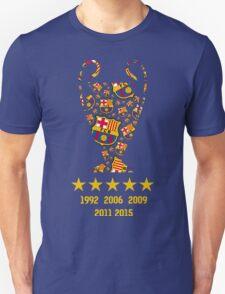FC Barcelona - Champion League Winners Unisex T-Shirt