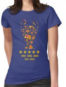 FC Barcelona - Champion League Winners Womens Fitted T-Shirt