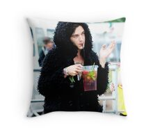 Matty Healy / Pims Throw Pillow