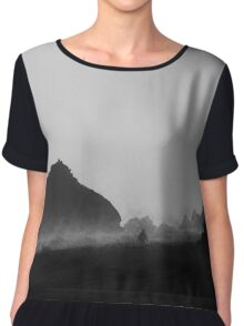 Pfeiffer Beach V BW Chiffon Top