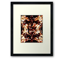 Electrifying orange sparkly triangle fire flames Framed Print