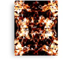 Triangle geometric sparkly fire Canvas Print