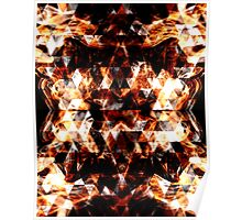 Triangle geometric sparkly fire Poster