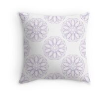 Violet lotus pattern Throw Pillow