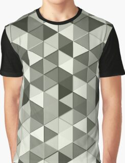 Grayscale triangle galore Graphic T-Shirt