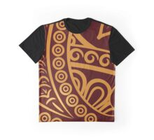 Oriental Persian Paisley, Swirls - Red Yellow Graphic T-Shirt