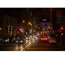 San Francisco Night I - Painterly Photographic Print