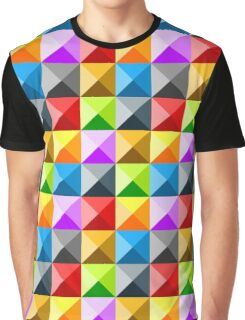 Colorful quarter square triangle pattern Graphic T-Shirt