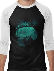 The Chief Leader and Princess Of Forest Men's Baseball ¾ T-Shirt