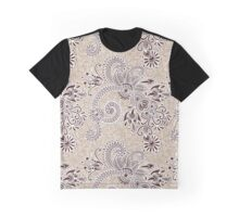 Oriental Persian Paisley, Swirls - Beige Brown Graphic T-Shirt