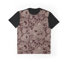 Oriental Persian Paisley, Swirls - Red Beige  Graphic T-Shirt
