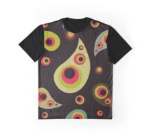Oriental Persian Paisley, Dots - Green Pink Black  Graphic T-Shirt