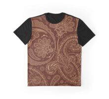 Oriental Persian Paisley, Swirls - Brown Beige  Graphic T-Shirt