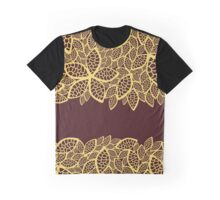 Oriental Persian Paisley, Leaves - Red Yellow  Graphic T-Shirt