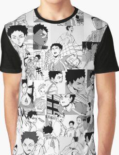 Iwaizumi Hajime Collage Graphic T-Shirt