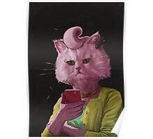 Dedicated Cat Poster