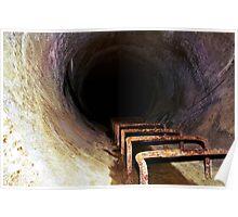 Murky Rust Tunnel Poster