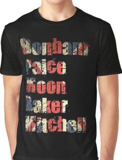 Bonham - Paice - Moon - Baker - Mitchell - British Drumming Legends Graphic T-Shirt