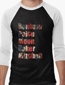 Bonham - Paice - Moon - Baker - Mitchell - British Drumming Legends Men's Baseball ¾ T-Shirt