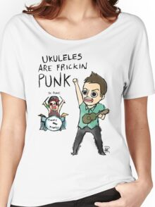 UKULELES ARE FRICKIN PUNK (OFFICIAL) Women's Relaxed Fit T-Shirt