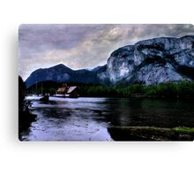 Houseboat Under the Chief Canvas Print