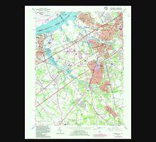 USGS TOPO Map New Jersey NJ Woodbury 255007 1967 24000 Unisex T-Shirt