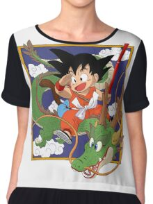 Goku And Shenron Chiffon Top