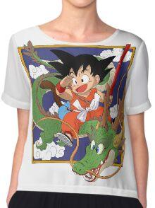 Goku And Shenron Chiffon Top