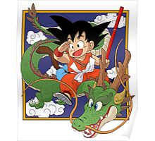 Goku And Shenron Poster