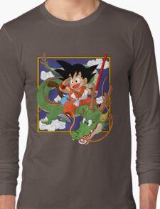 Goku And Shenron Long Sleeve T-Shirt