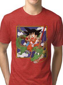 Goku And Shenron Tri-blend T-Shirt