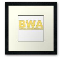 B.W.A Framed Print
