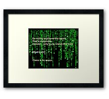 The Matrix: There is no spoon Framed Print