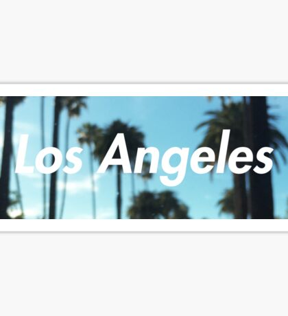 los angeles palm trees Sticker