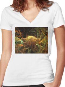 Membrane Women's Fitted V-Neck T-Shirt