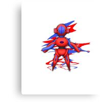 Deoxys Alien Pokemon Canvas Print