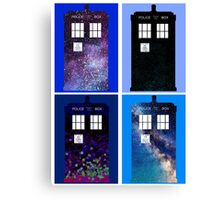 Tardis Funky Four Background Design Canvas Print