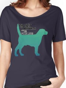 Dogs Are therapists fun colourful design  Women's Relaxed Fit T-Shirt