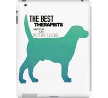 Dogs Are therapists fun colourful design  iPad Case/Skin
