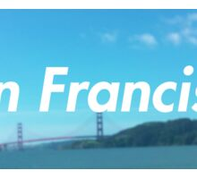 san francisco water  Sticker