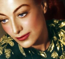 Colorized Joan Crawford 1945 Mildred Pierce Sticker