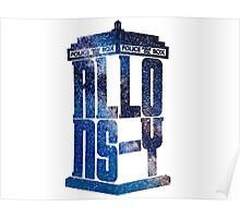 Allons-Y Galaxy Tardis (Tenth Doctor) Poster