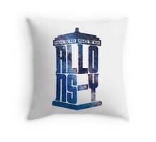 Allons-Y Galaxy Tardis (Tenth Doctor) Throw Pillow