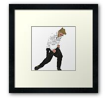 Klopp Celebration against Dortmund. Framed Print