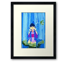 The glamorous life of a spirit medium a la Maya Fey.  Framed Print